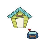 Imaginisce - Good Dog Collection - Snag 'em Acrylic Stamps - Dog House