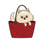 Imaginisce - Good Dog Collection - Snag 'em Acrylic Stamps - Purse Dog