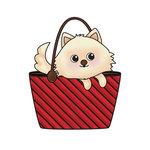 Imaginisce - Good Dog Collection - Snag 'em Acrylic Stamps - Purse Dog