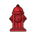 Imaginisce - Good Dog Collection - Snag 'em Acrylic Stamps - Fire Hydrant