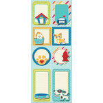 Imaginisce - Good Dog Collection - Sticker Stacker - 3 Dimensional Stickers with Glossy Accents - Doggy Diary