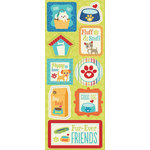 Imaginisce - Good Dog Collection - Chipboard Stickers - Fluffy and Stuff