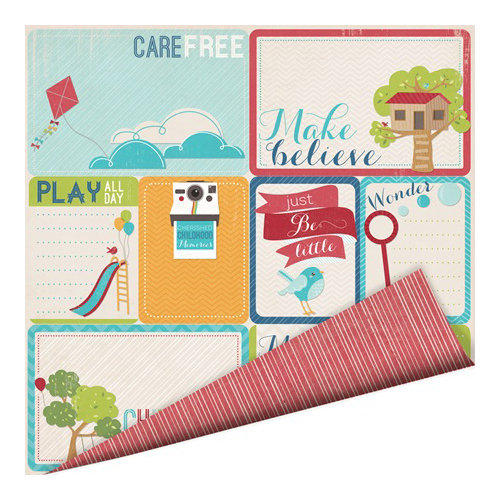 Imaginisce - Childhood Memories Collection - 12 x 12 Double Sided Paper - Care Free