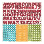 Imaginisce - Childhood Memories Collection - 12 x 12 Cardstock Stickers - Alphabet
