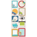 Imaginisce - Childhood Memories Collection - Sticker Stacker - 3 Dimensional Stickers with Glossy Accents - This Moment