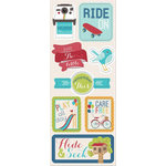 Imaginisce - Childhood Memories Collection - Chipboard Stickers - Hide and Seek