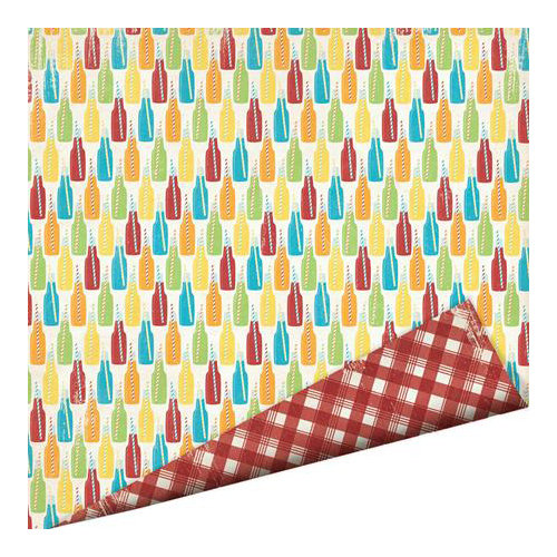 Imaginisce - Endless Summer Collection - 12 x 12 Double Sided Paper - Soda Pop