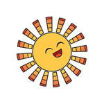 Imaginisce - Endless Summer Collection - Snag 'em Acrylic Stamps - Sun