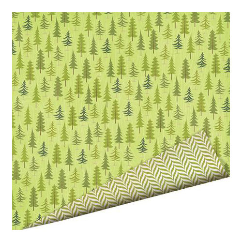 Imaginisce - Outdoor Adventure Collection - 12 x 12 Double Sided Paper - Forest