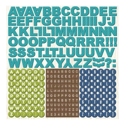 Imaginisce - Outdoor Adventure Collection - 12 x 12 Cardstock Stickers - Alphabet