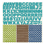 Imaginisce - Outdoor Adventure Collection - 12 x 12 Cardstock Stickers - Alphabet