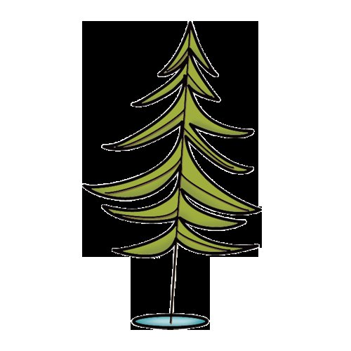 Imaginisce - Outdoor Adventure Collection - Snag 'em Acrylic Stamps - Pine