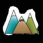 Imaginisce - Outdoor Adventure Collection - Snag 'em Acrylic Stamps - Three Peaks