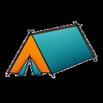 Imaginisce - Outdoor Adventure Collection - Snag 'em Acrylic Stamps - Tent