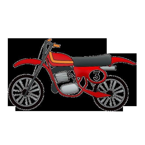 Imaginisce - Outdoor Adventure Collection - Snag 'em Acrylic Stamps - Dirt Bike