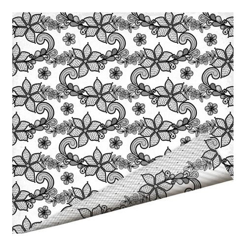 Imaginisce - Black Ice Collection - 12 x 12 Double Sided Paper - Lace