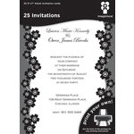 Imaginisce - Black Ice Collection - 5 x 7 Invitations - Sakura