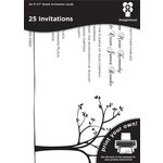 Imaginisce - Black Ice Collection - 5 x 7 Invitations - Tree Line