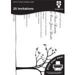 Imaginisce - Black Ice Collection - 5 x 7 Invitations - Tree Line