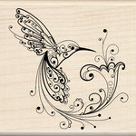 Inkadinkado - Wood Mounted Stamps - Hummingbird