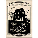 Inkadinkado - Halloween Collection - Wood Mounted Stamps - Haunted House Bottle Label