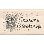 Inkadinkado - Holiday Collection - Wood Mounted Stamps - Season's Greetings