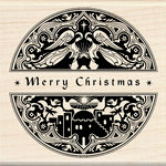 Inkadinkado - Holiday Collection - Christmas - Wood Mounted Stamps - Mindscape Merry Christmas