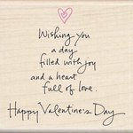 Inkadinkado - Valentine's Day Collection - Wood Mounted Stamps - Filled with Joy