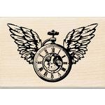 Inkadinkado - Wood Mounted Stamps - Clock Wings
