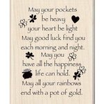 Inkadinkado - St. Patrick's Day Collection - Wood Mounted Stamps - May Good Luck Find You