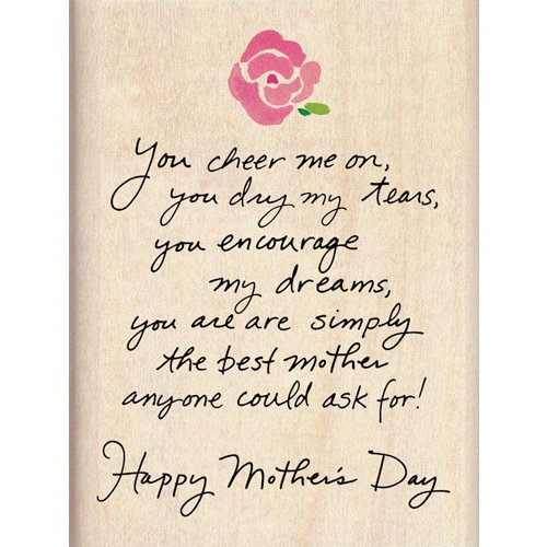 Inkadinkado - Mother's Day Collection - Wood Mounted Stamps - Happy Mother's Day Rose