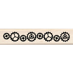 Inkadinkado - Wood Mounted Stamps - Cog and Gears Border