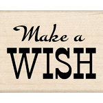 Inkadinkado - Birthday Fun Collection - Wood Mounted Stamps - Make a Wish