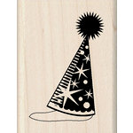 Inkadinkado - Birthday Fun Collection - Wood Mounted Stamps - Party Hat