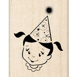 Inkadinkado - Birthday Fun Collection - Wood Mounted Stamps - Party Girl
