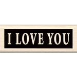Inkadinkado - Wood Mounted Stamps - I Love You
