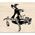 Inkadinkado - Halloween Collection - Wood Mounted Stamps - Steampunk Witch