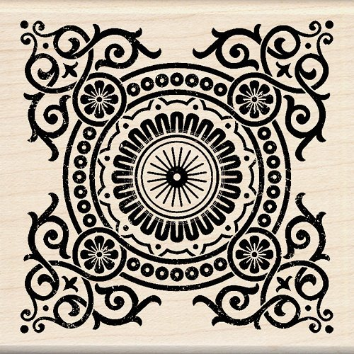 Inkadinkado - Designer Collection - Wood Mounted Stamps - Decorative Motif