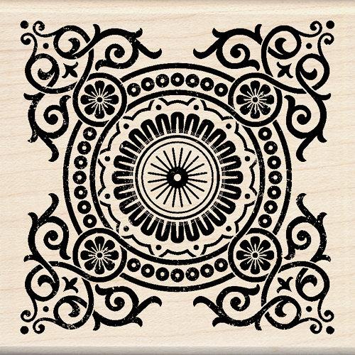 Inkadinkado - Designer Collection - Wood Mounted Stamps - Decorative Motif