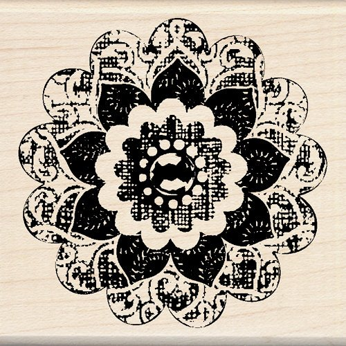 Inkadinkado - Designer Collection - Wood Mounted Stamps - Button Flower