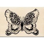 Inkadinkado - Designer Collection - Wood Mounted Stamps - Large Butterfly