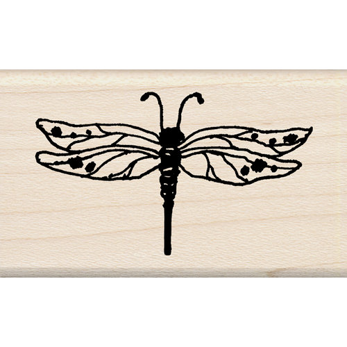 Inkadinkado - Designer Collection - Wood Mounted Stamps - Dragonfly