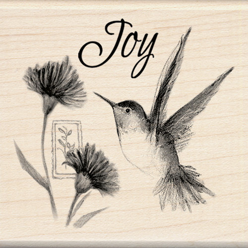 Inkadinkado - Designer Collection - Wood Mounted Stamps - Hummingbird Joy