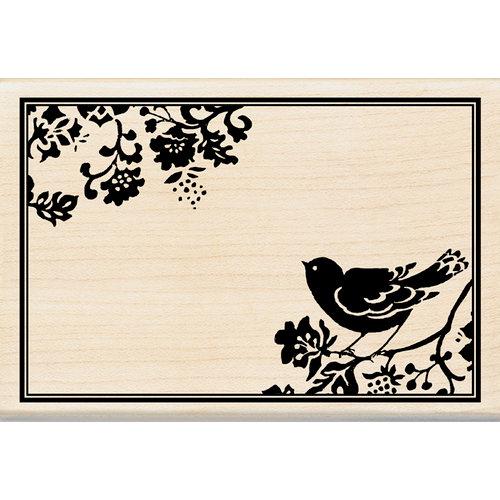 Inkadinkado - Designer Collection - Wood Mounted Stamps - Bird Frame
