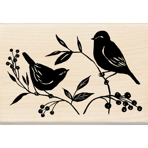 Inkadinkado - Designer Collection - Wood Mounted Stamps - Two Birds
