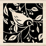 Inkadinkado - Designer Collection - Wood Mounted Stamps - Single Bird Square