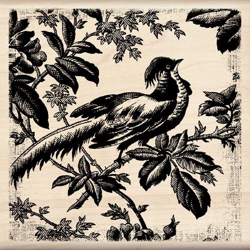 Inkadinkado - Designer Collection - Wood Mounted Stamps - Asian Pheasant