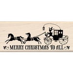 Inkadinkado - Steampunk Collection - Christmas - Wood Mounted Stamps - Merry Christmas to All