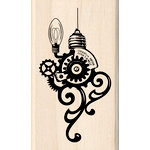Inkadinkado - Steampunk Collection - Christmas - Wood Mounted Stamps - Ornament