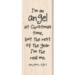 Inkadinkado - Kids Quotes Collection - Christmas - Wood Mounted Stamps - I'm an Angel